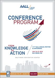 AALL 2018 program cover