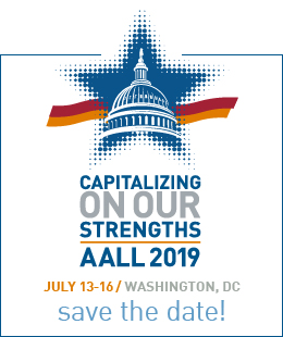 AALL 2019 save the date ad