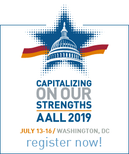 AALL 2019 register now ad