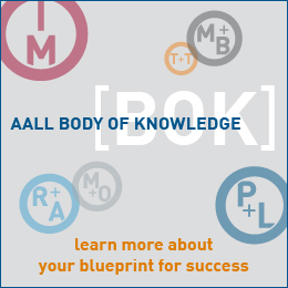 AALL Body of Knowledge ad