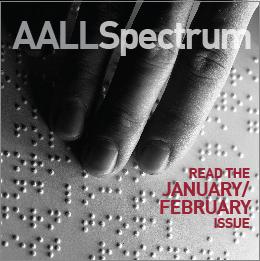 January/February 2019 AALL Spectrum ad