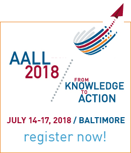 AALL 2018 register now ad