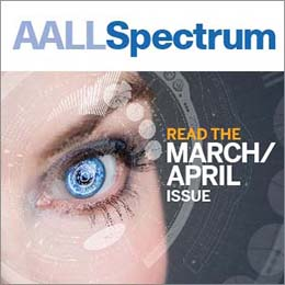 March/April 2018 AALL Spectrum ad