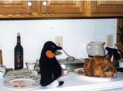 Puron and a roast turkey