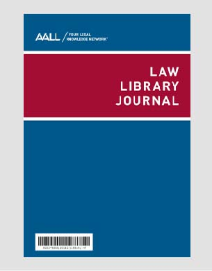 Law Library Journal cover