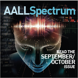 AALL Spectrum September/October 2018 Cover