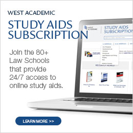 West Academic Ad for study aid subscriptions
