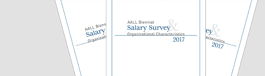 Three issues of the AALL Salary Survey fanned out