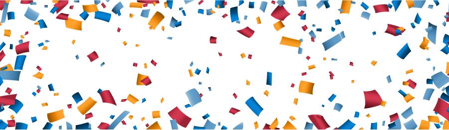Confetti in celebration