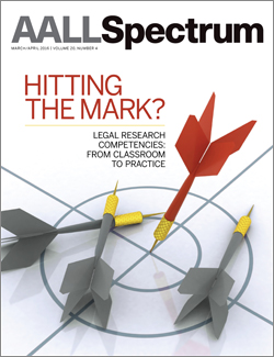 March/April 2016 AALL Spectrum cover