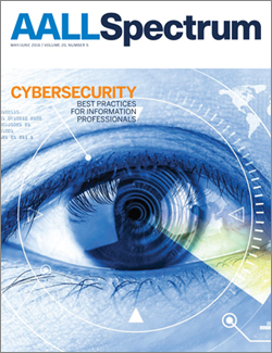 May/June 2016 AALL Spectrum cover