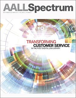 September/October 2017 AALL Spectrum cover