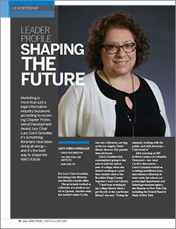 Lucy Curci-Gonzalez's's leader profile in AALL Spectrum