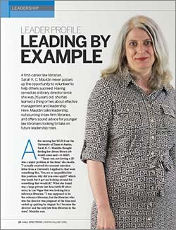 Sarah K. C. Mauldin's leader profile in AALL Spectrum