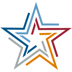Stylized star in AALL colors