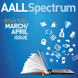 AALL Spectrum 2020 March/April Issue Ad