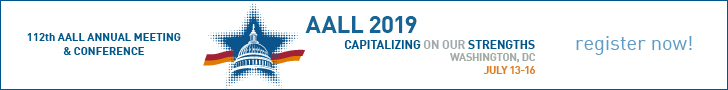 AALL Annual Meeting register now ad