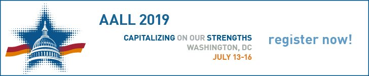 2019 AALL Annual Meeting Registration