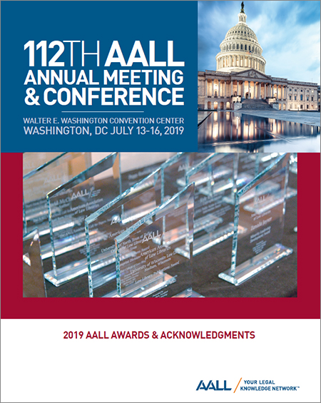 2019 AALL Awards Brochure Cover