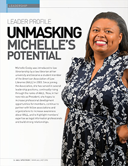 Michelle Cosby's leader profile in AALL Spectrum