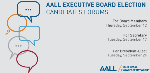 2019 AALL Candidates Forums