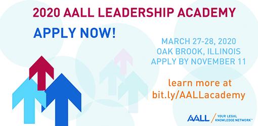 Apply for the 2020 AALL Leadership Academy