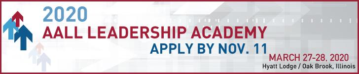 AALL 2020 Leadership Academy