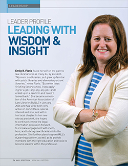 Emily R. Florio's leader profile in AALL Spectrum