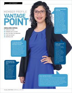 Geraldine Cepeda's member profile in AALL Spectrum